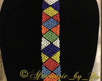 Zulu beaded necktie