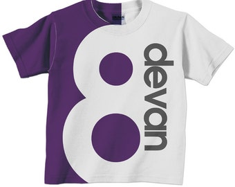 Number Shirt, Personalized Childrens Birthday T-Shirt, 1st 2nd 3rd 4th 5th 6th 7th 8th 9th Birthday