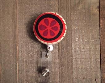 Grapefruit Badge Reel - Orange - ID Badge Holder - Name Badge - Nurse Badge - RN Badge