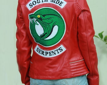 Cheryl Blossom Southside Serpents Red Leather Jacket Riverdale
