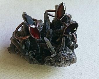 Garnet Marquis Stacker Rings - Size 5, Copper