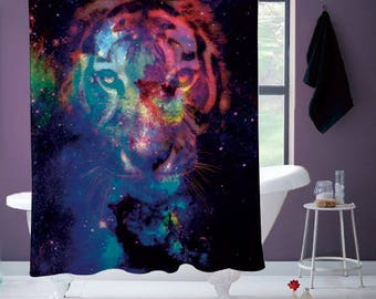 Starry Tiger Shower Curtain