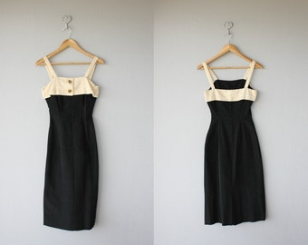 1950s dress | 50s wiggle dress | 1950s pinup dress | 50s cocktail dress | 50s bombshell dress - size xs