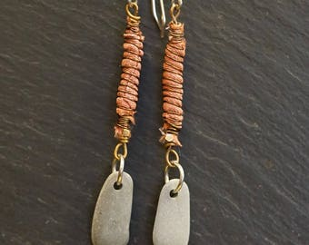 Coral/cocoon earrings/warrior wrap/aromatherapy/ more than skin deep/ more than us/ pay it forward/ givingthroughjewelry/ ALCCREATIONS