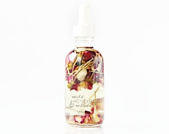 Body Oil | Floral Bath Oil | Wild Honeysuckle + Woods Body and Bath Oil with rose, jasmine and honeysuckle | 100% natural & vegan