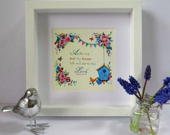 As For Me And My House Frame, A beautiful Christian gift!