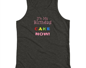 Youth Its My Birthday CAKE Now Pink Kids Tank Top Shirt
