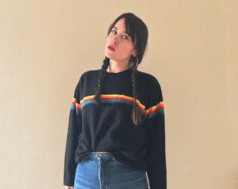 Vintage 90s Iconic Union Bay Rainbow Stripe Sweater