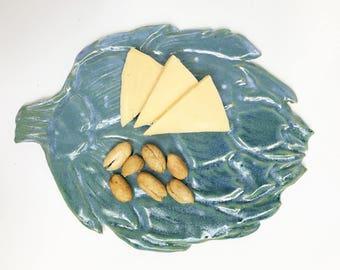 Appetizer plate with Artichoke  design