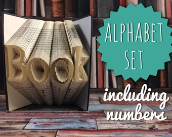 Folded book letters etsy quick view full book alphabet font pattern spiritdancerdesigns Image collections