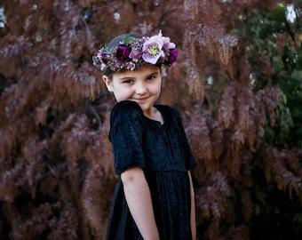 black girl dress, velvet dress, twirl dress, girls dress, dress with sleeves, tween dress, little black dress, formal dress, occasion dress