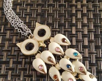 Beige Owl Keychain
