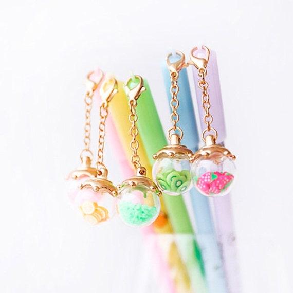 Craft Supplies & Tools - Kawaii Hello Kitty Dessert Pens - Cute Gel Pens
