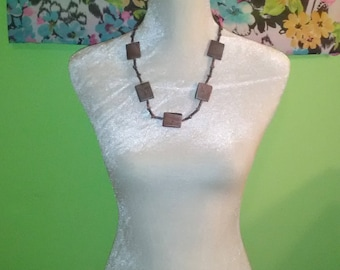 Brown and Gray Stone Necklace