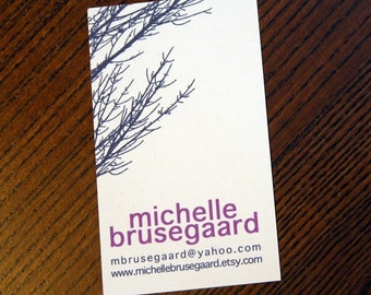 Navy Branches Calling Cards