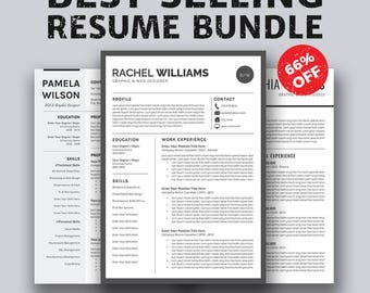 Resume Templates Job Planners. Cover Letter Template, Instant Download, Professional Creative Resume. Mac Word, A4 Letter Size, Rachel RB