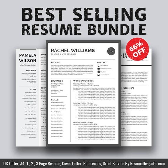 Resume Templates Job Planners Cover Letter Template Instant - Resume Size Letter Or A4