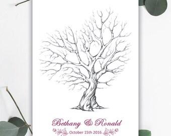 Rustic Fingerprint Tree - DIGITAL FILE
