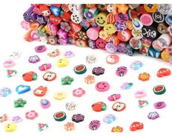 100 x various fimo canes slices