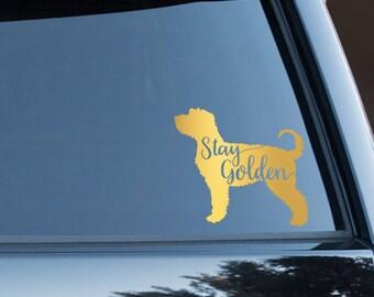 Stay Golden - Goldendoodle Vinyl Decal