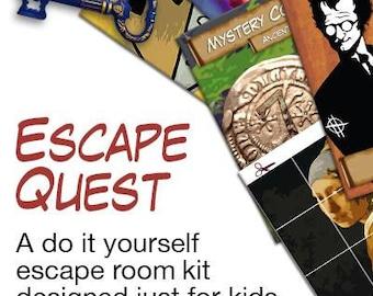 Kids escape room party kit