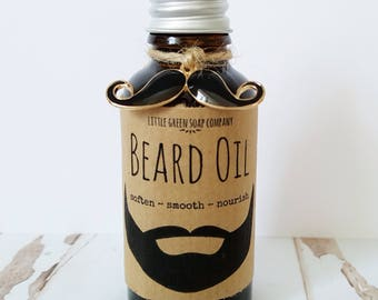 Beard Oil, Beard Grooming Oil, Facial Hair Styling & Conditioning, Skincare for Men, Father's Day Gift