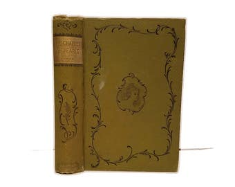 Hollow Book Safe The Chaplet of Pearls Cloth Bound vintage Secret Compartment Security hiding place little women girls room decor
