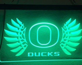 Oregon Ducks Acrylic Sign