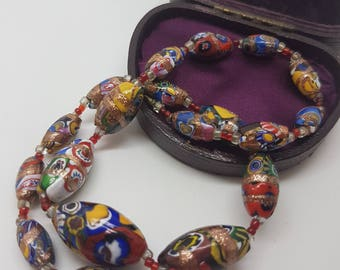 Beautiful Millifiori 50s Beaded Necklace
