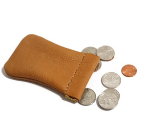 Leather Coin Purse, Coin Wallet, Squeeze Frame Coin purse