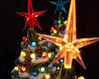 SALE - Lighted Ceramic Christmas Tree Collection