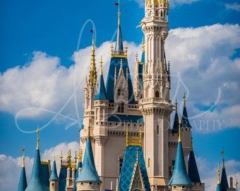 Beauty and Majesty- High Quality Walt Disney World Magic Kingdom Cinderella Castle Photography 5x7, 8x10, 11x14, 12x18, 16x20 and 18x24