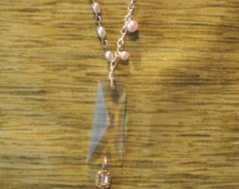 Chandelier Prism Necklace made with Vintage Jewelry