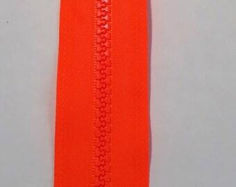 Orange neon zipper 35cm