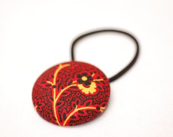 Fiery Paisley Hair Button