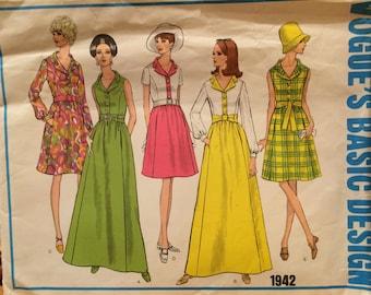 Gorgeous Vogue Basic Design Versatile Evening Dress or Shirtdress---1942