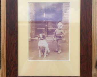 Old framed photograph