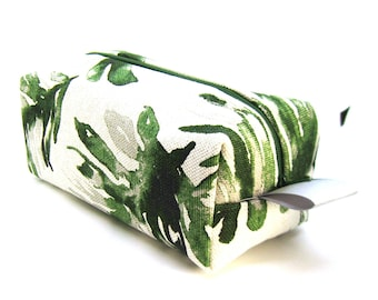 Makeup Bag Cosmetic Case - Green Palm