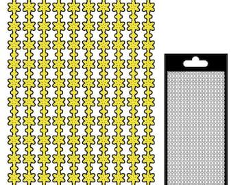 Border sticker flowers - matte gold - STI21060