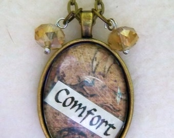 Comfort - Healing Art Necklace, No.26