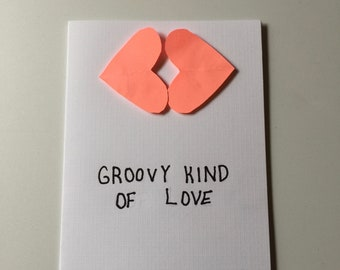 groovy kind of love card