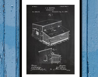 Chicken Coop Patent, Chicken Coop Poster, Chicken Coop Blueprint, Chicken Coop Print, Chicken Coop Art, Chicken Coop Decor p078
