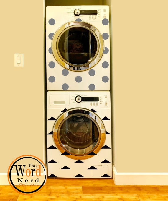 Polka dot decals washer dryer vinyl appliance decals