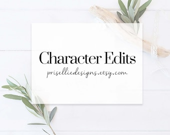 Image/Character Edits to Invitation | PrisellieDesigns