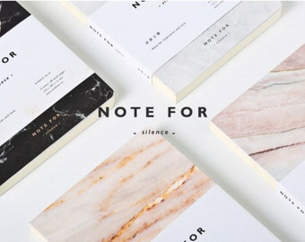 Blank marble notebook, blank notebook, travel Journal, Planner, Journal Insert, Planner Insert-silence