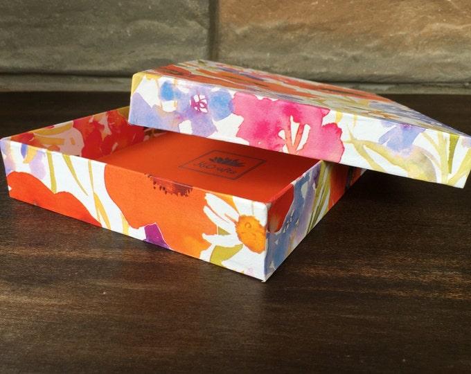 Handmade Poppy Floral Gift Box