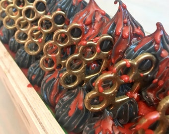 Knuckle Duster dragons blood handmade soap 7 oz. brass knuckles