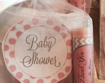 baby girl shower favor /soap and lip balm favor party favor