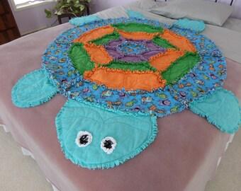 Child's Turtle Rag Quilt