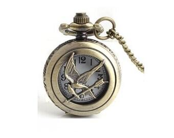 1 watch hunger games bronze bird clock 25mm